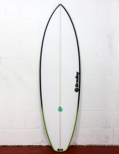 Bradley The Thing surfboard 6ft 4 FCS II - White