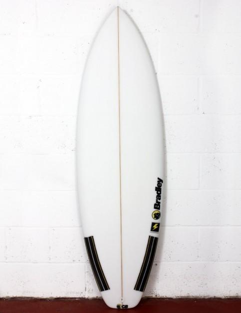 Bradley Thunderbolt surfboard 6ft 0 FCS II - White