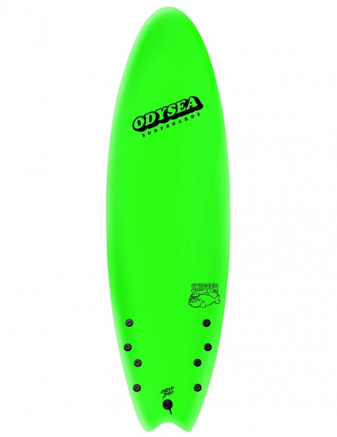 Catch Surf Odysea Skipper Quad soft surfboard 6ft 6 - Lime