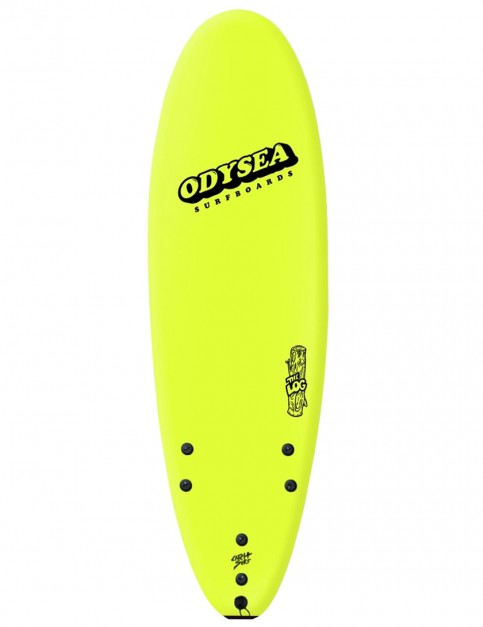 Catch Surf Odysea Log soft surfboard 6ft 0 - Electric Lemon