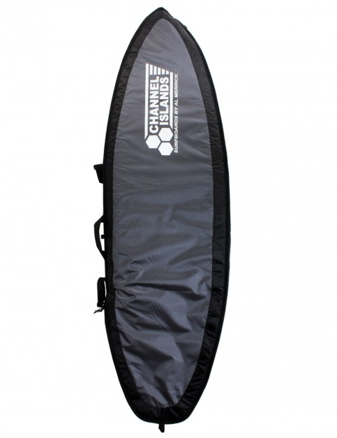 Channel Islands CX1 Travel Light Double Coffin surfboard bag 10mm 6ft 3 - Charcoal