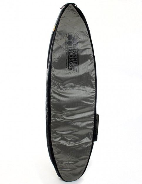 Channel Islands CX2 Travel Light Coffin Double surfboard bag 10mm 6ft 6 - Charcoal