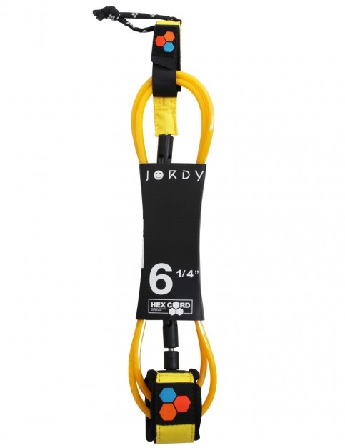 Channel Islands Jordy Standard Hex surfboard leash 6ft - Fluoro Yellow