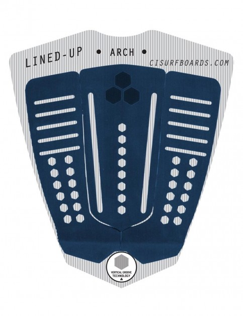 Channel Islands Lined Up Arch surfboard tail pad - Indigo