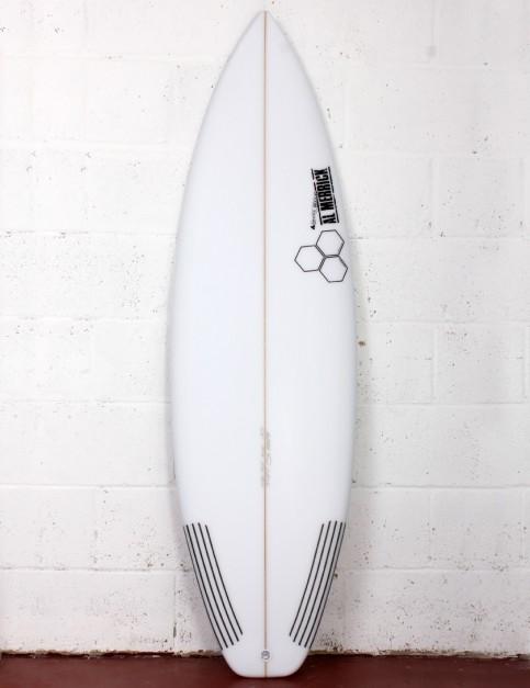 Channel Islands Sampler surfboard 5ft 8 Futures - White