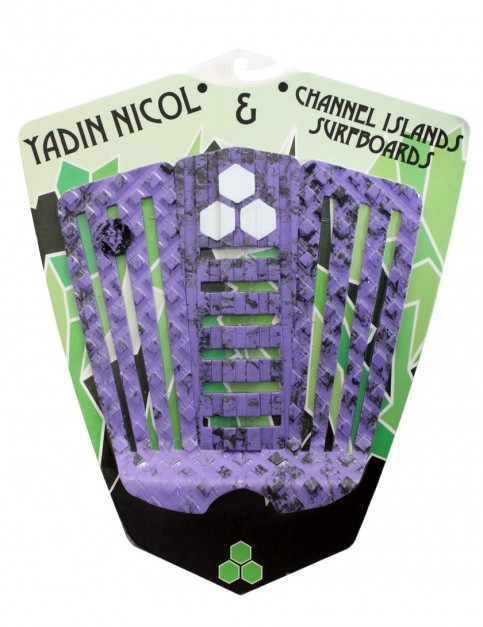 Channel Islands Yadin Nicol surfboard tail pad - Camo Purple