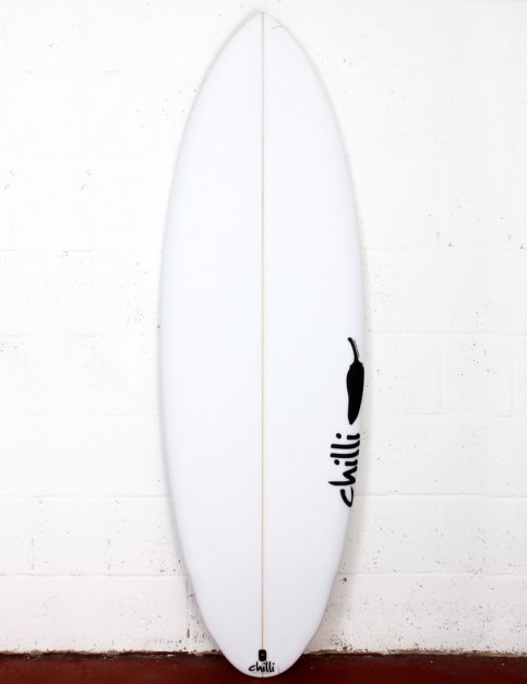 Chilli Miami Spice surfboard 5ft 8 FCS II - White