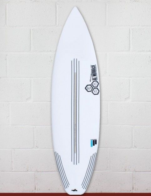 Channel Islands Black and White surfboard FlexBar 6ft 1 - Futures - White