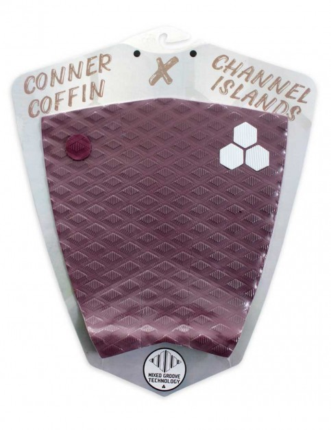 Channel Islands Conner Coffin Flat surfboard tail pad - Maroon