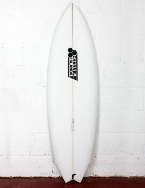 Channel Islands Twin Fin surfboard 5ft 11 Futures - White