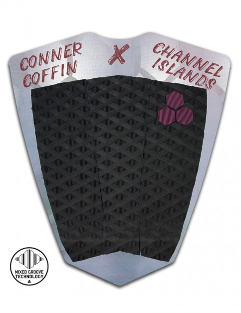 Channel Islands Conner Coffin Flat surfboard tail pad - Black