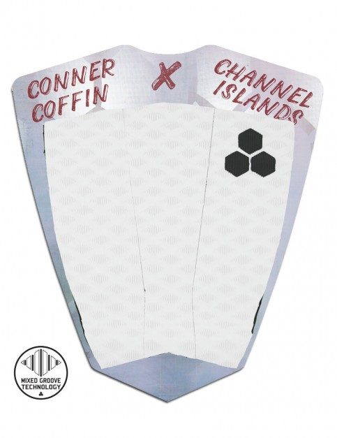 Channel Islands Conner Coffin Flat surfboard tail pad - White