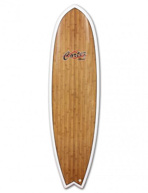 Cortez Fish Veneer surfboard 6ft 0 - Bamboo
