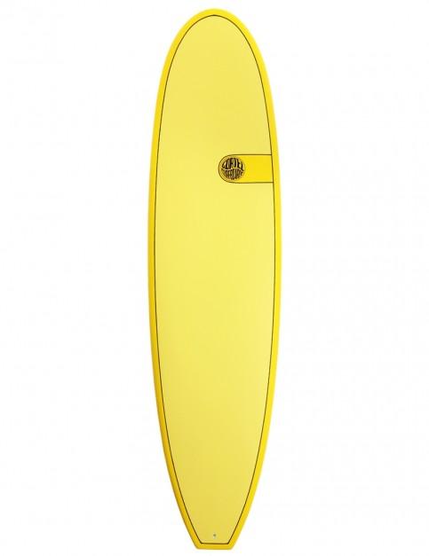 Cortez Funboard Surfboard 7ft 4 - Yellow