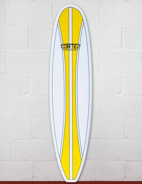 Cortez Funboard Surfboard 7ft 4 - Yellow