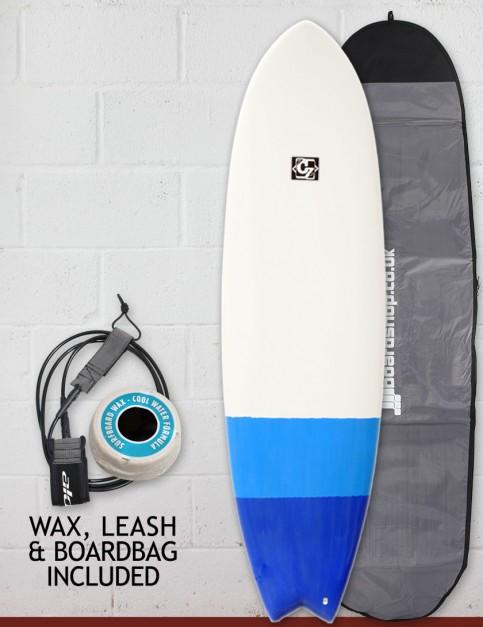 Cortez Fish surfboard package 6ft 6 - Blue Dip