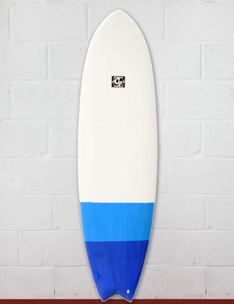 Cortez Fish surfboard 6ft 6 - Blue Dip