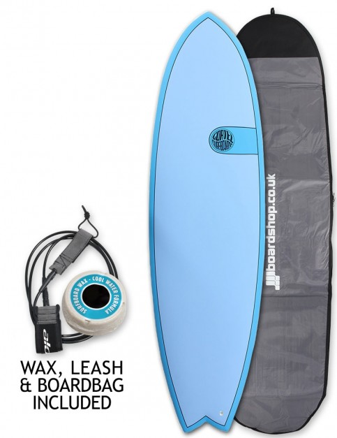 Cortez Fish surfboard 6ft 3 package - Ocean Blue