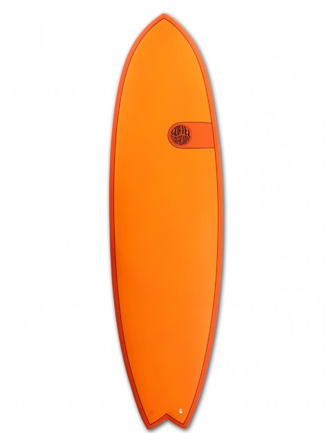 Cortez Fish surfboard 6ft 6 - Hot Orange