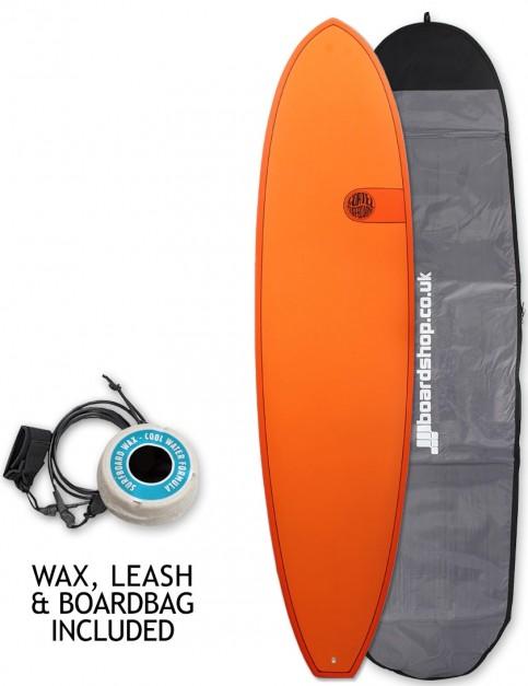 Cortez Funboard surfboard package 8ft 0 - Hot Orange