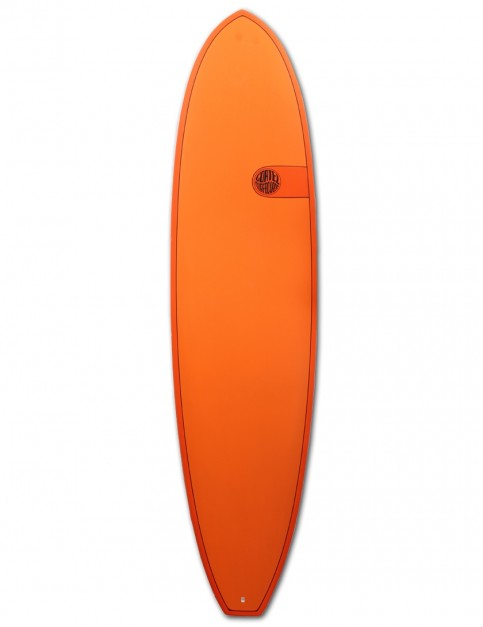 Cortez Funboard Surfboard 7ft 4 - Hot Orange