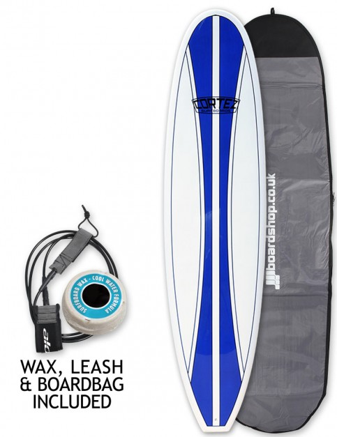Cortez Funboard Surfboard Package 7ft 2 - Navy Blue