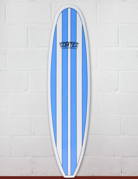 Cortez Funboard Surfboard 8ft 0 - Light Blue Stripes