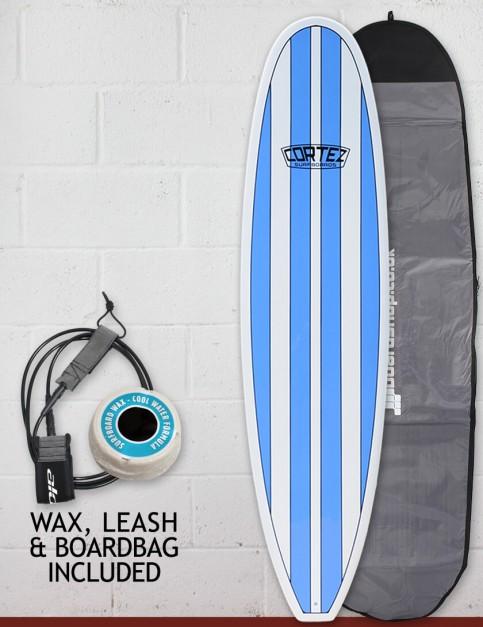 Cortez Funboard Surfboard Package 7ft 6 - Light Blue