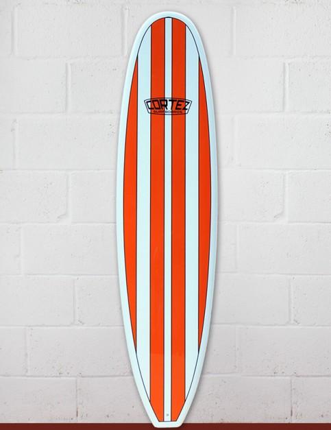 Cortez Funboard Surfboard 7ft 6 - Orange Stripe