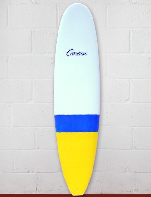 Cortez Funboard Surfboard 7ft 6 - Blue/Yellow Dip