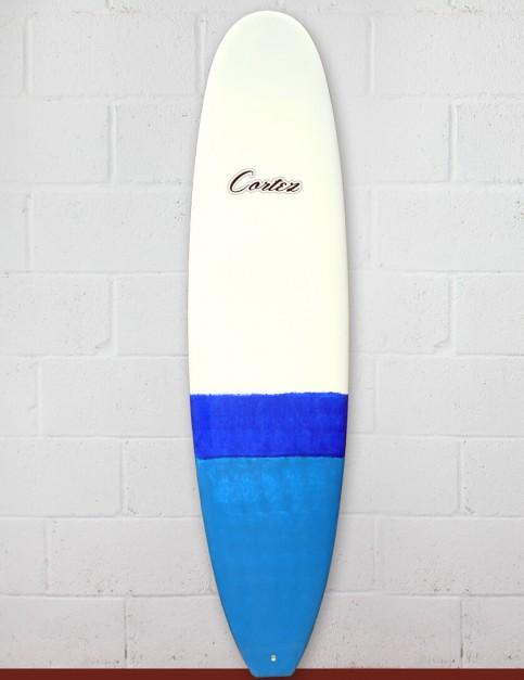 Cortez Funboard Surfboard 7ft 4 - Dip Blue Sanded