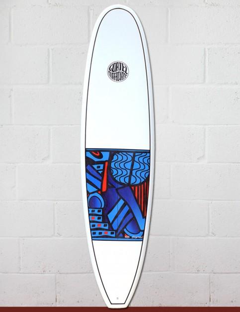Cortez Funboard Surfboard 7ft 4 - Series 10 Blue