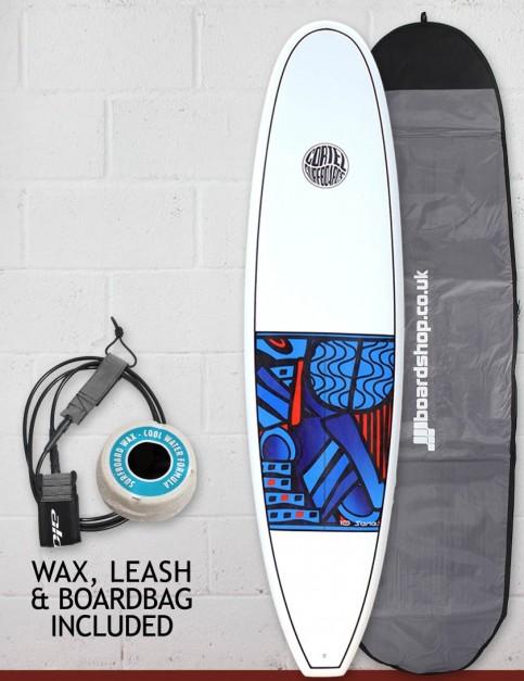 Cortez Funboard Surfboard Package 7ft 2 - Series 10 Blue