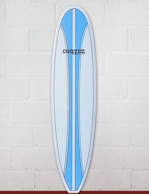 Cortez Funboard Surfboard 7ft 4 - Light Blue