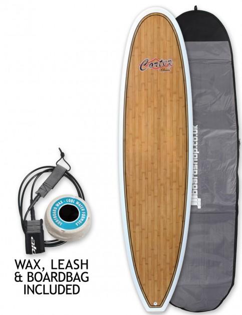Cortez Fun Veneer Surfboard Package 8ft 0 - Bamboo