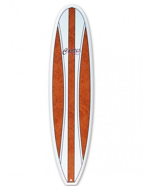 Cortez Fun Veneer Surfboard 7ft 6 - Walnut