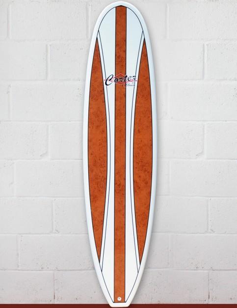 Cortez Mal Veneer Surfboard 9ft 0 - Dark Natural Wood