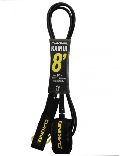 DaKine Kainui surfboard leash 8ft - Black