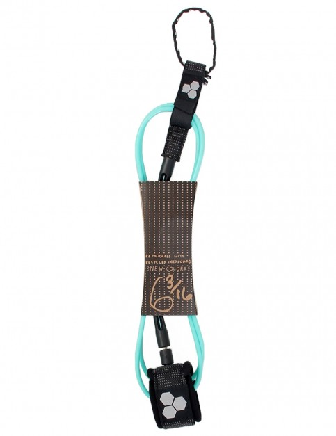 Channel Islands Dane Comp surfboard leash 6ft - Turquoise