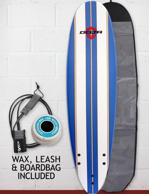 Alder Delta Stringers Package Soft surfboard 7ft - Blue Stripe