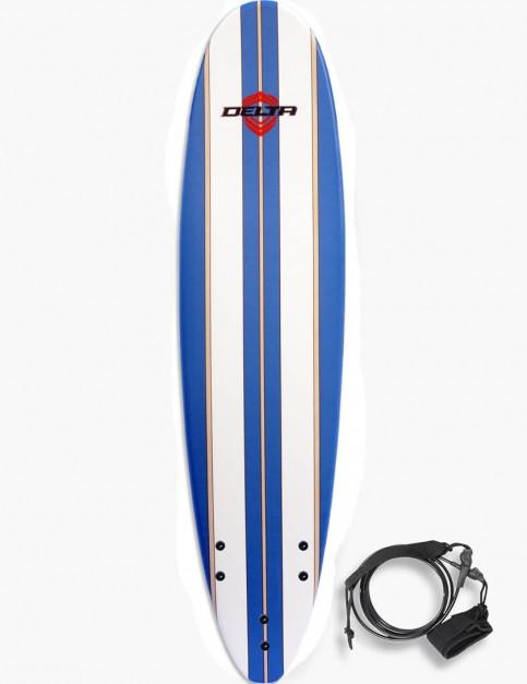 Alder Delta Stringers Soft Surfboard 7ft - Blue Stripe