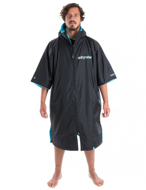 Dryrobe Advance Adult outdoor change robe - Black/Blue