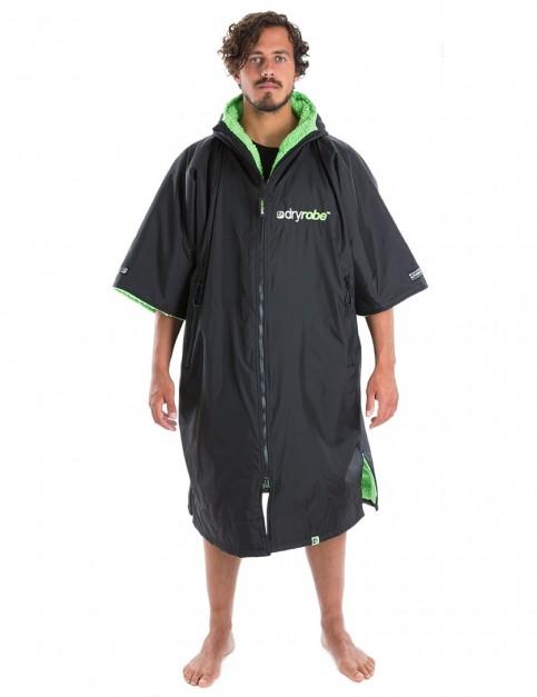 Dryrobe Advance Adult outdoor change robe - Black/Green