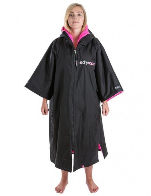 Dryrobe Advance Adult outdoor change robe - Black/Pink