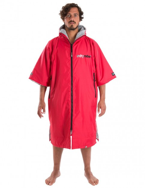 Dryrobe Advance Adult outdoor change robe - Red/Grey