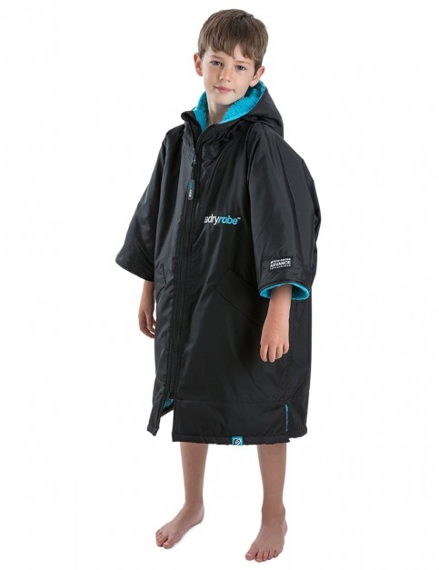 Dryrobe Advance Extra Small (kids) outdoor change robe - Black/Blue