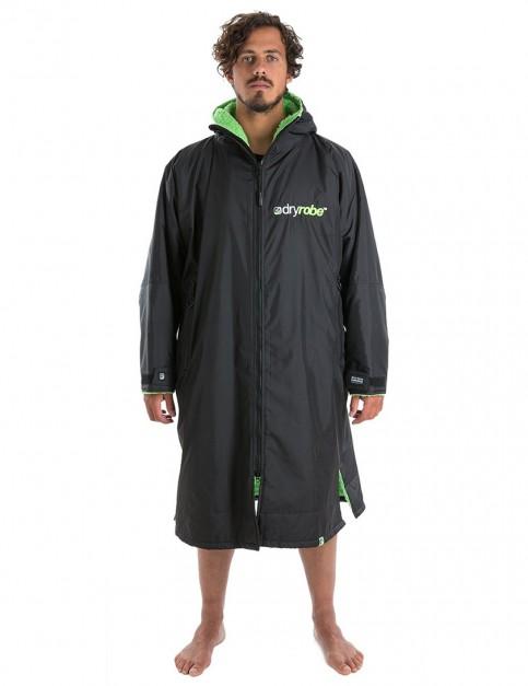 Dryrobe Advance Long Sleeve Medium (adult slim size) outdoor change robe - Black/Green