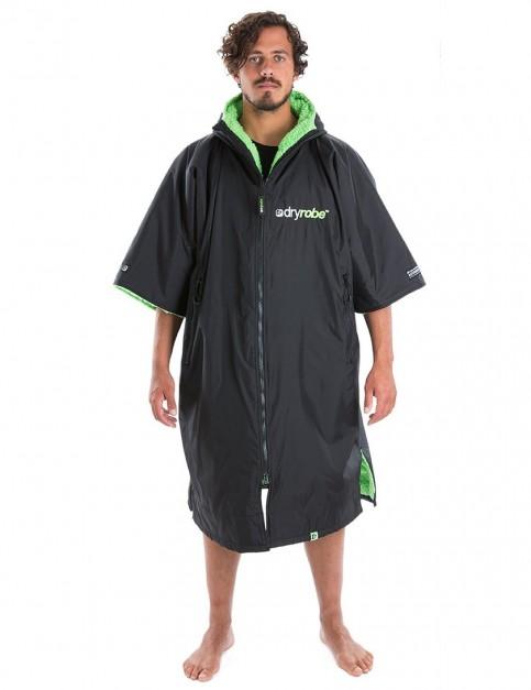 Dryrobe Advance Medium (adult slim size) outdoor change robe - Black/Green