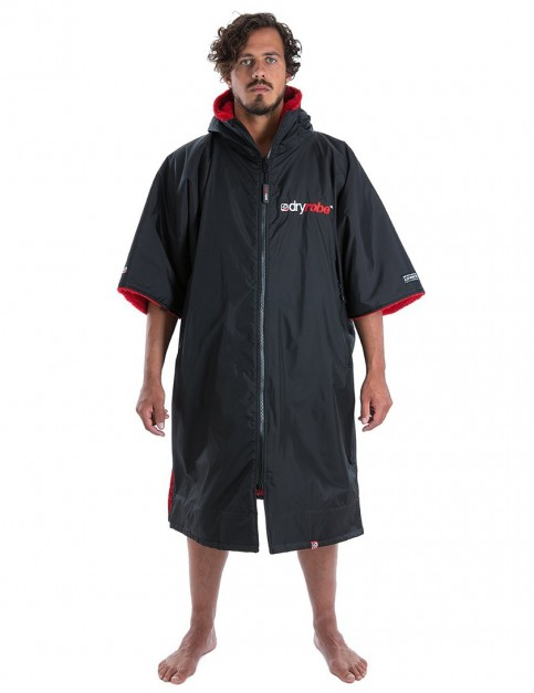 Dryrobe Advance Medium (adult slim size) outdoor change robe - Black/Red