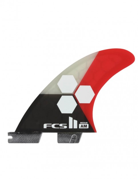 FCS II AM PC Thruster Medium Tri Fins - Red